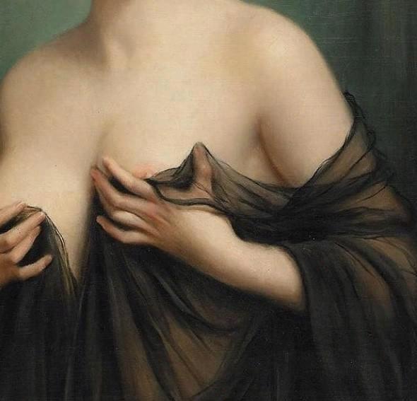 Франсуа Мартин-Кавель. Портрет девушки в дезабилье.Фрагмент