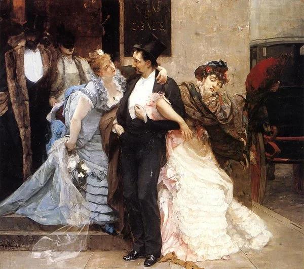 Ш.Херманс. На рассвете. Фрагмент, 1875