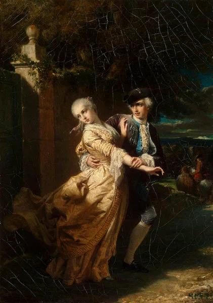 Л.Дюбюф. Похищение Ловеласом Клариссы. ок.1860