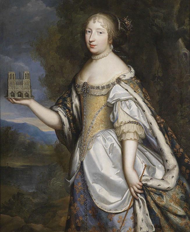 Шарль и Генрих Бёбрюн-младший. Портрет королевы Марии-Терезы Французской, покровительницы Нотр-Дам де Пари. ок. 1670