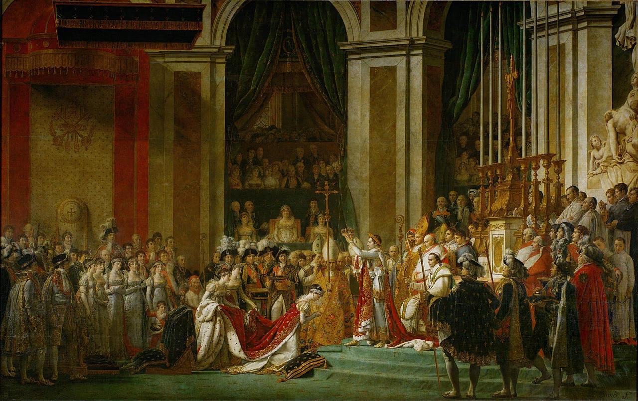 Жан-Луи Давид и Жорж Руже. Коронация императора Наполеона I и Жозефины в Нотр-Дам де Пари. 1805-1807