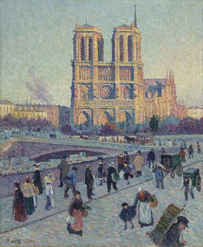 Максимиллиан Люс. Набережная Сен-Мишель и Нотр-Дам де Пари. 1901