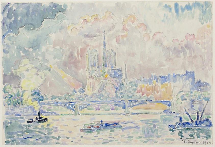Поль Синьяк. Нотр Дам. 1910