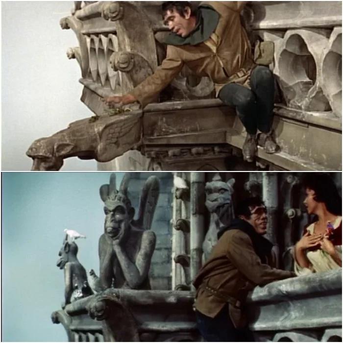 """Кадры из фильма Ж.Деланнуа  """"Собор Парижской Богоматери"""", 1956."""