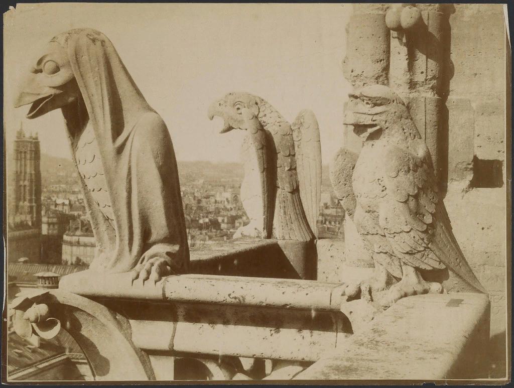 Адольф Жиродон. Химеры Нотр-Дам де Пари. ок. 1875