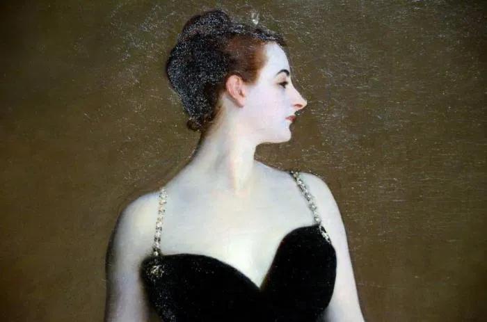 Д. Сарджент. Портрет Madame X. Фрагмент.