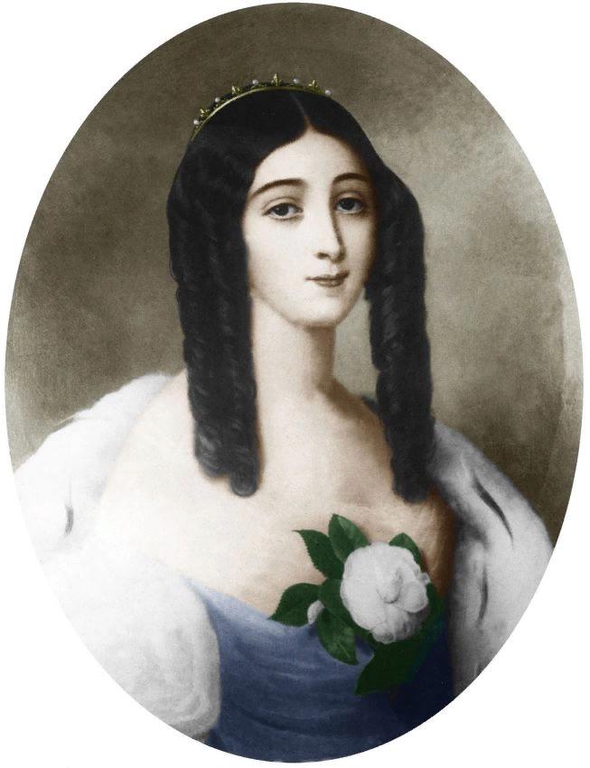 Эдуард Вьено. Портрет Мари Дюплесси.