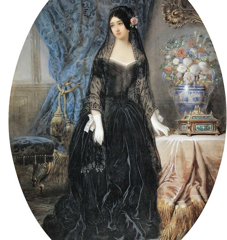 Жан Оливье. Портрет Мари Дюплесси. 1840