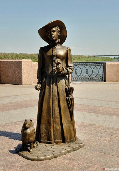 Дама с собачкой. Астрахань