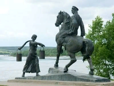 Аксинья и Григорий Мелехов. станица Вешенская.