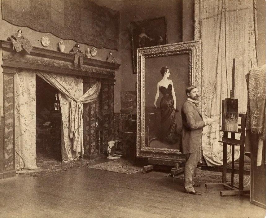 Д. Сарджент в своей студии. Париж, 1884
