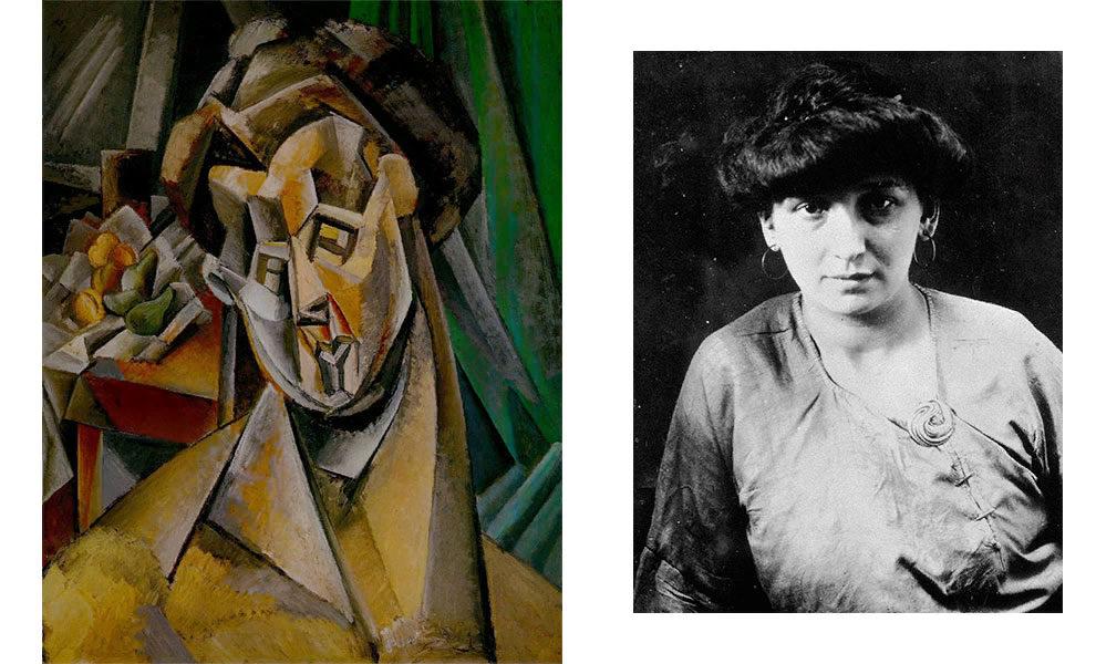 Пабло Пикассо, «Женщина с грушами (Фернанда)», 1909; Фернанда Оливье, ок. 1909