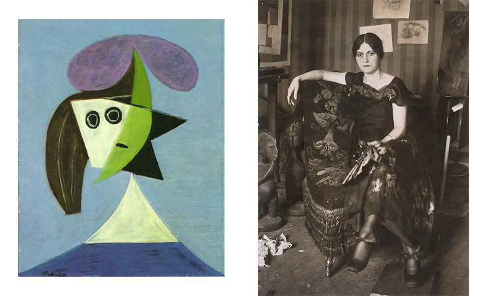 Пабло Пикассо, «Женщина в шляпе (Ольга)», 1935; Ольга Хохлова, ок. 1917