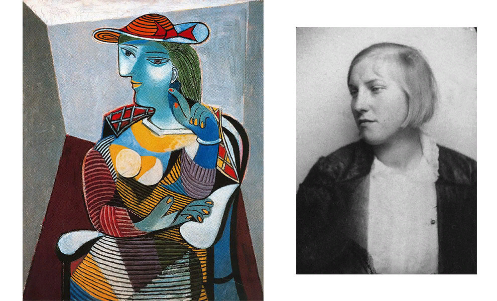 Пабло Пикассо, «Портрет Марии-Терезы», 1937; Мария-Тереза Вальтер, ок. 1928