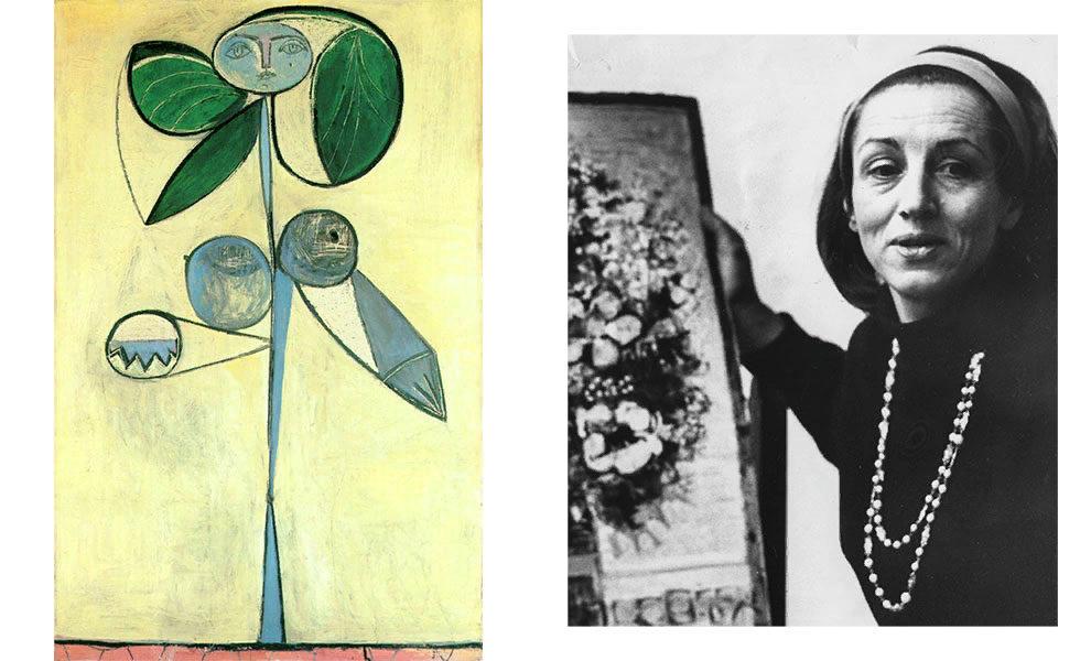 Пабло Пикассо, «Женщина-цветок (Франсуаза Жило)», 1946; Франсуаза Жило, 1973