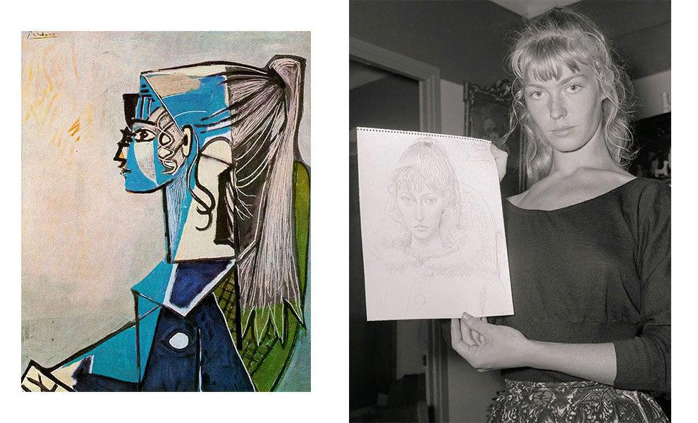 Пабло Пикассо, «Портрет Сильветт Давид в зеленом кресле», 1954; Сильветт Давид, 1954