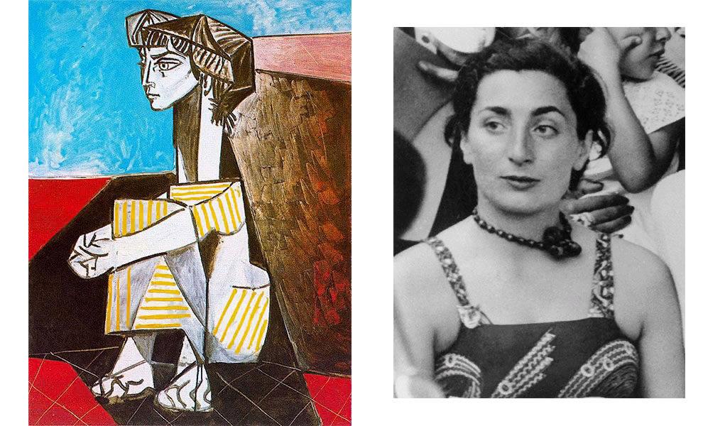 Пабло Пикассо, «Жаклин со скрещенными руками», 1954; Жаклин Рок, 1955