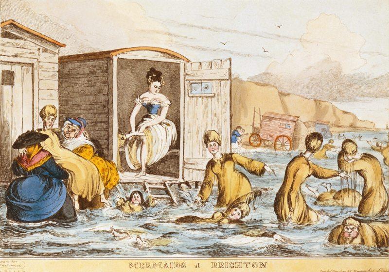 Уильям Хит. Русалки в Брайтоне. 1829.