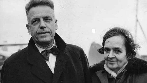 А.Кинзи с женой Кларой.