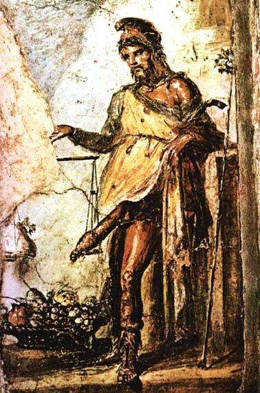 Приап. Настенное изображение Вилла Ветти.