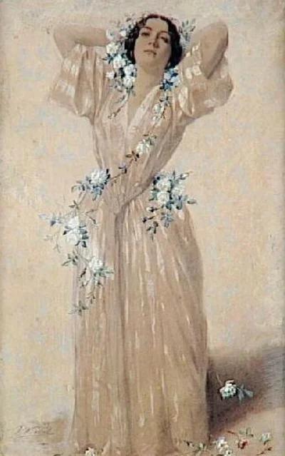 Винсент Видаль. Портрет госпожи А.Сабатье.