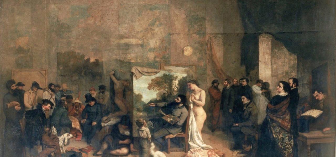 Г.Курбе. Ателье художника. 1855.