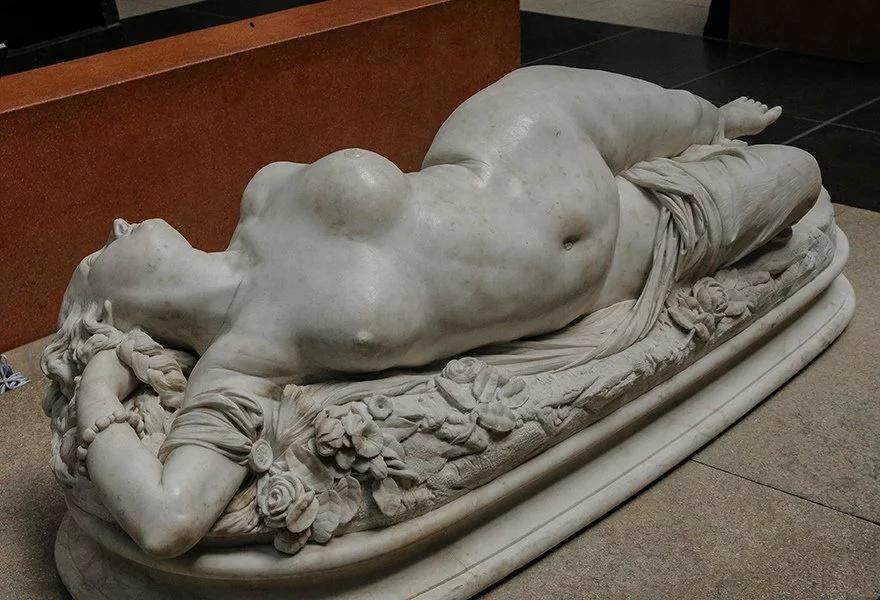 О.Клезенже. Женщина, ужаленная змеей. 1847.