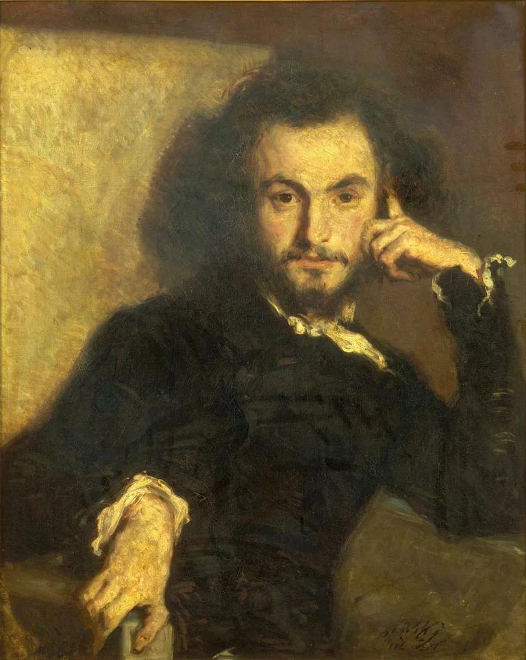 Э.Дерой. Портрет Ш.Бодлера. 1844.