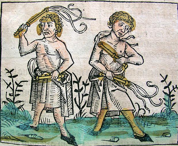 Кающиеся флагелланты. Гравюра XV в.