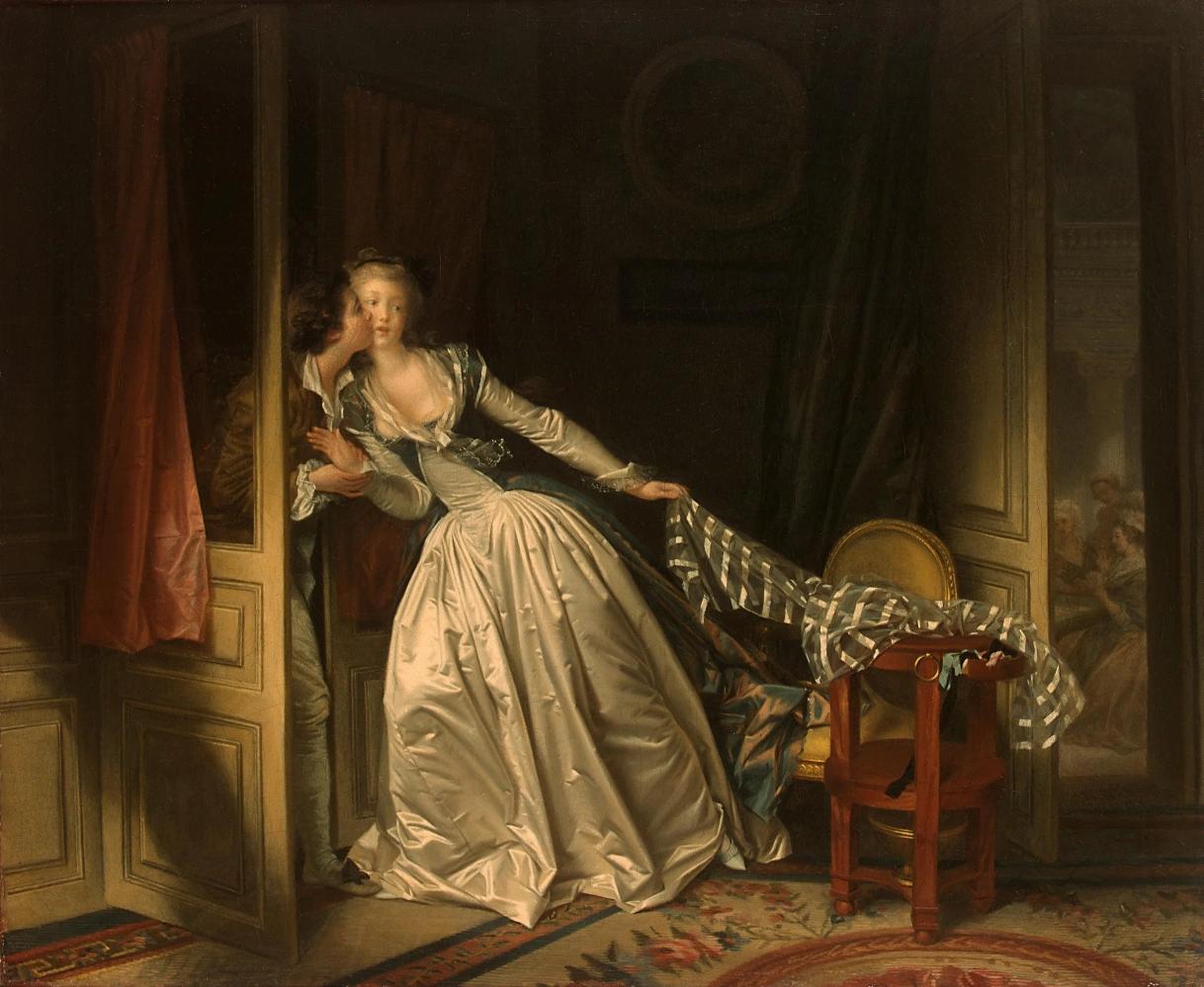 Жан-Оноре Фрагонар. Поцелуй украдкой. 1788.