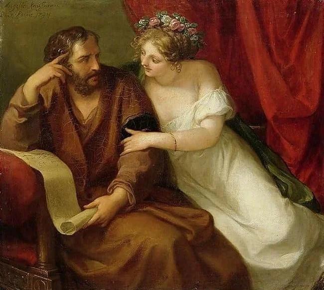 Анжелика Кауфман. Фрина и Ксенократ. 1794.
