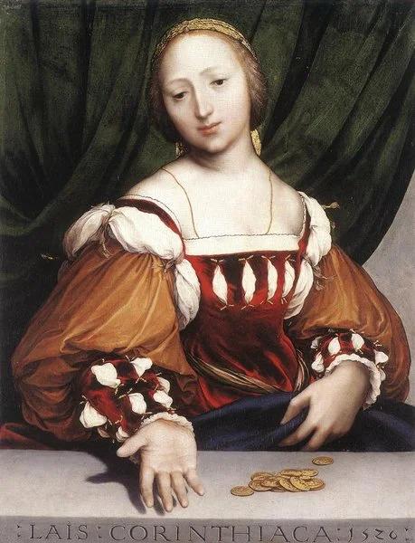 Ганс Гольбейн. Лаиса Коринфская. 1526.