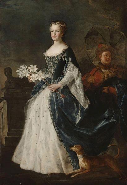 Алексис Симон Белль. Портрет Марии Лещинской. ок.1726