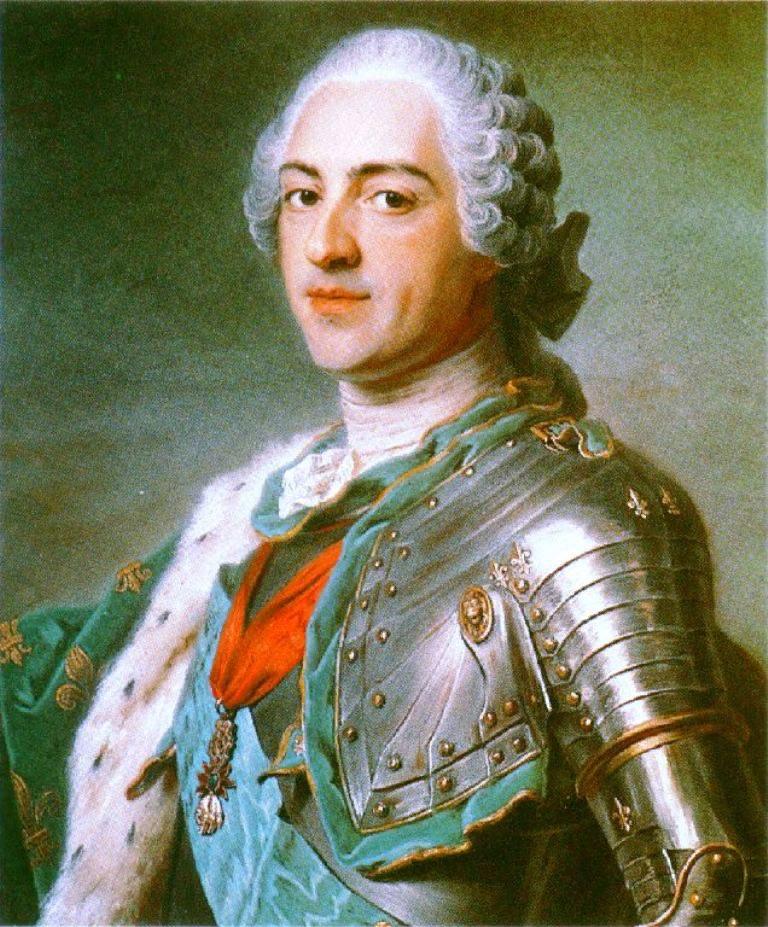 Морис Квентин де ла Тур. Портрет Людовика XV