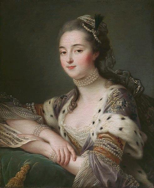 Франсуа Друэ. Портрет мадмуазель Маргариты Катрин Эно, позднее маркизы де Монмела в турецком костюме. 1757
