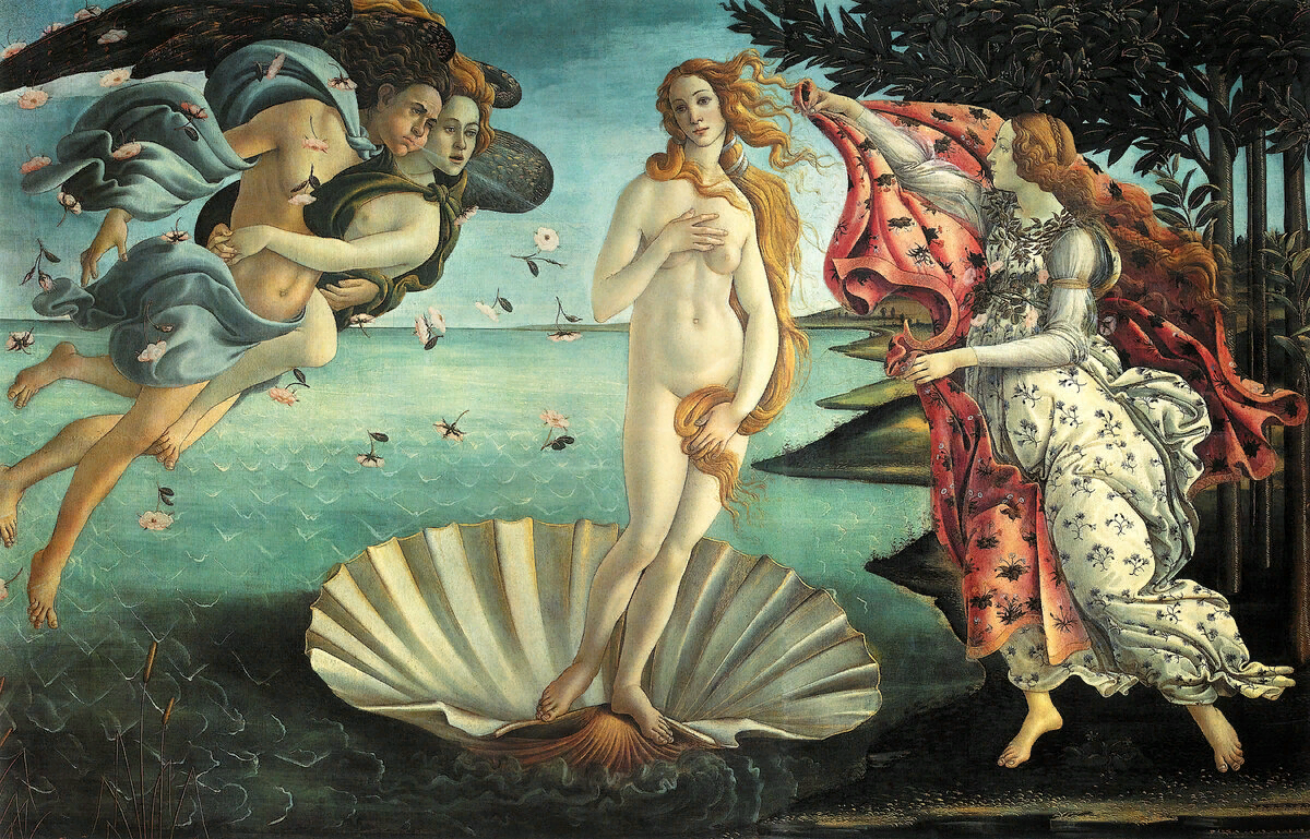 С.Боттичелли. Рождение Венеры.