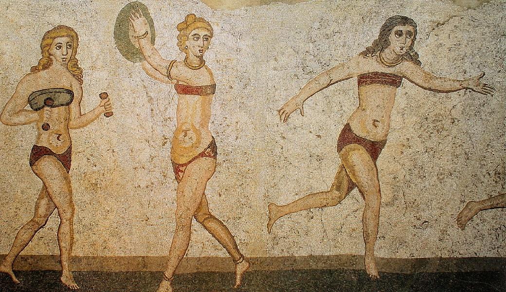 Античная мозаика из раскопок вилла Дель Казале, Сицилия