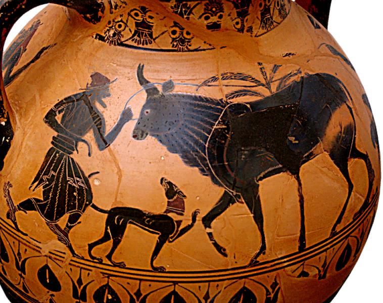 Ио в образе коровы. Керамика 540-530 до н.э.