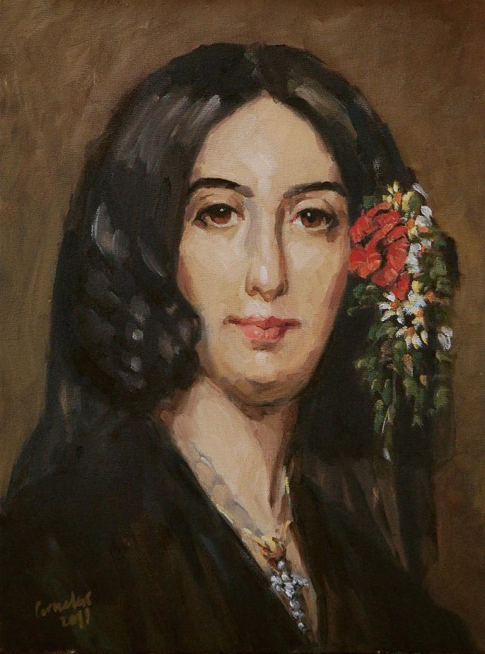Корнелус. Портрет Жорж Санд
