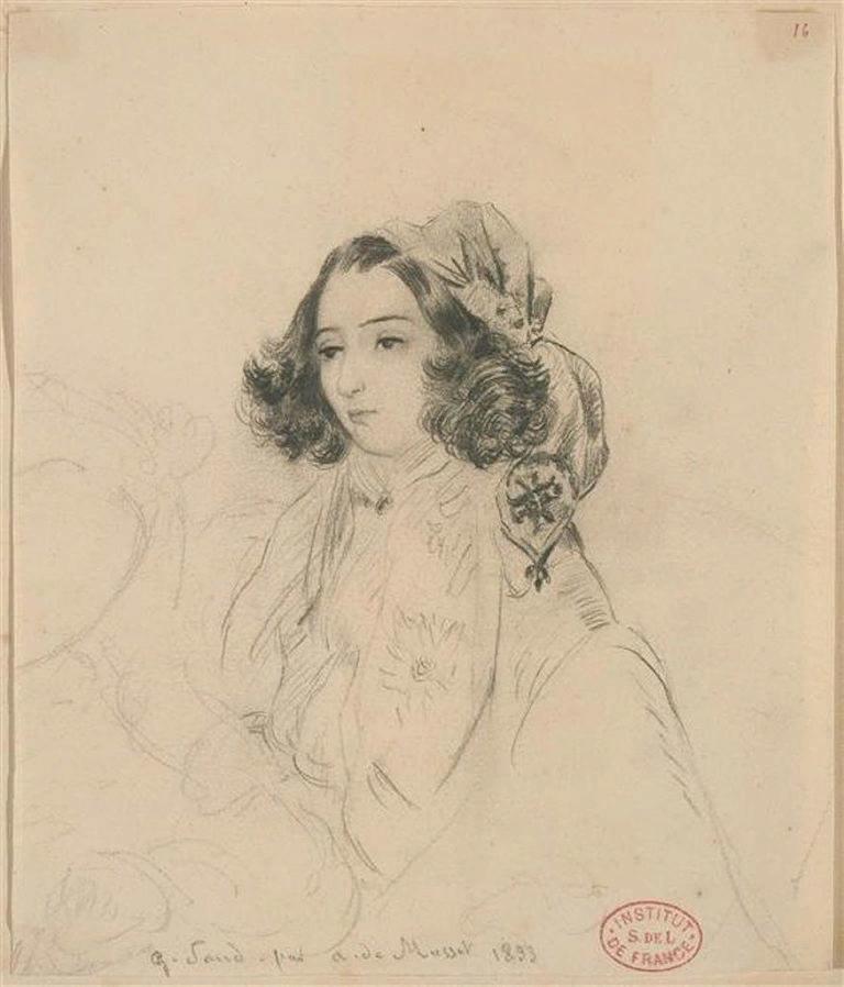А.Мюссе. Жорж Санд. 1833