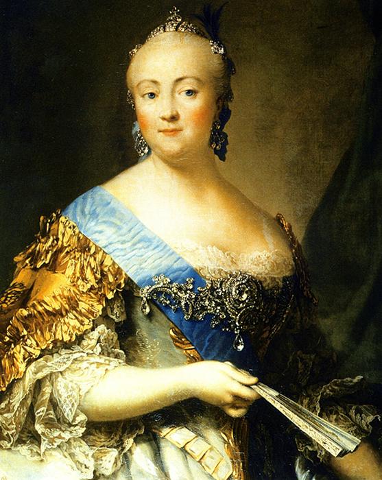 В.Эриксен. Портрет императрицы Елизаветы Петровны. 1757