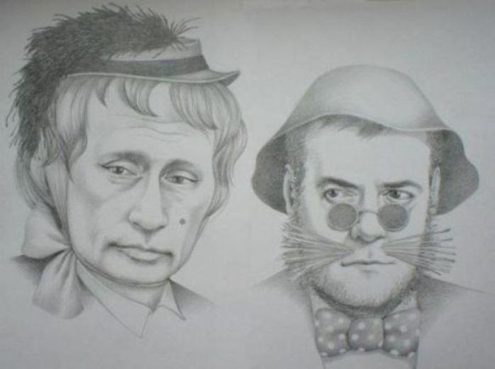 путин-и-медведев-лиса-алиса-и-кот-базилио-песочница-удалённое-555118