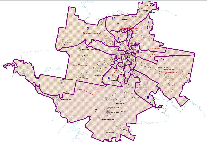 схема округов 2013