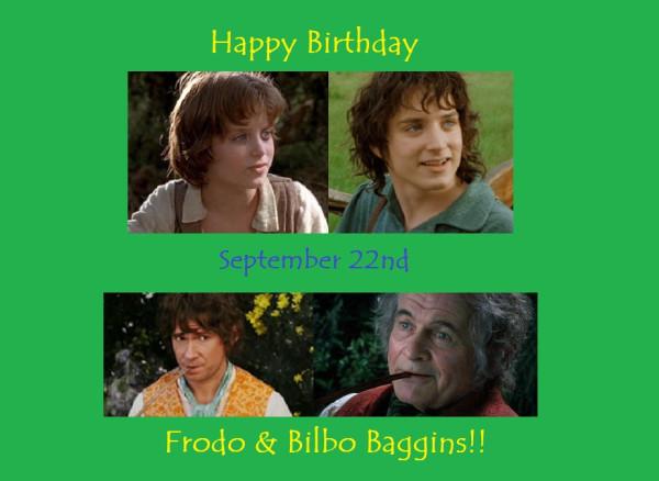 Frodo & Bilbo Birthday-dodger_sister