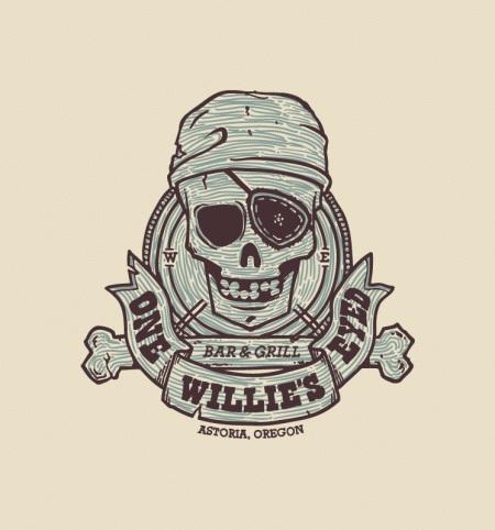 One Eyed Willy Shirt Upclose