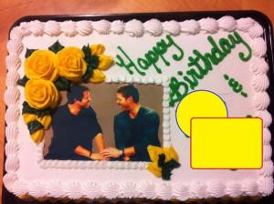 Jensen & Misha Face Cake - 1