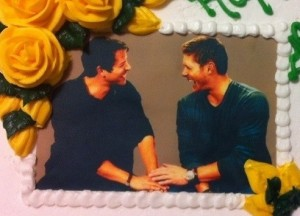Jensen & Misha Face Cake - 2