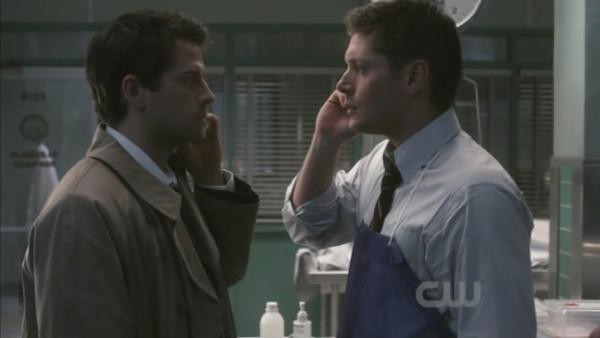 Cas & Dean on the phone