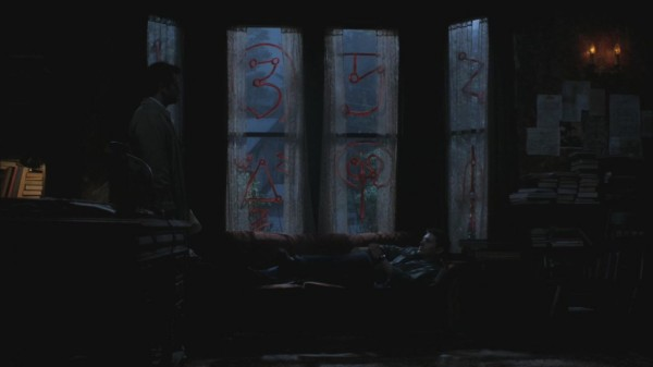 Cas watch Dean sleep