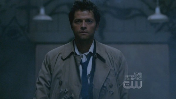 Cas enters a room like a  bamf
